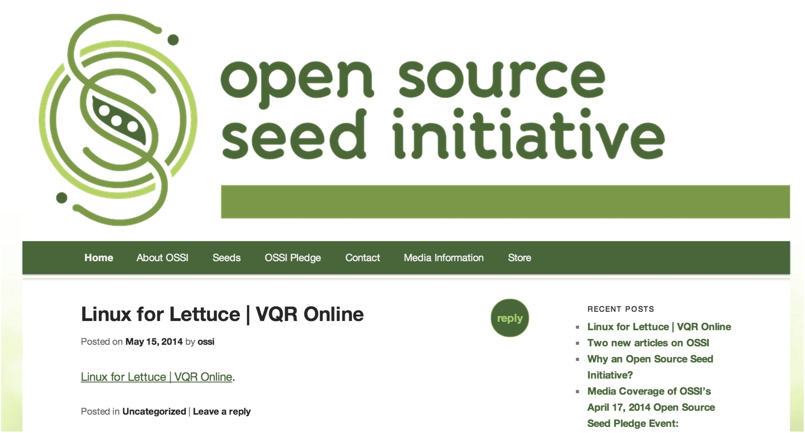paul stacey open source seed initiative web site