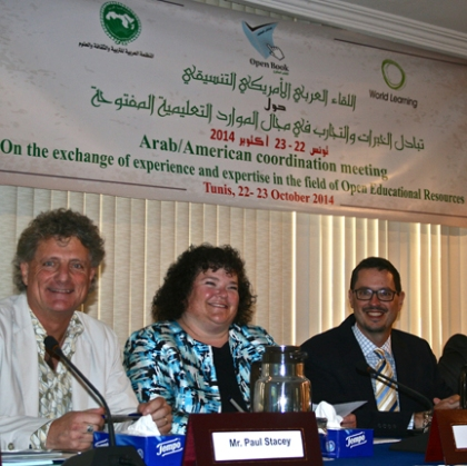 Paul Stacey, Mary Lou Forward and James Glapa-Grossklag at ALECSO in Tunis