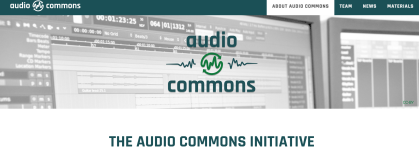 audio commons screenshot